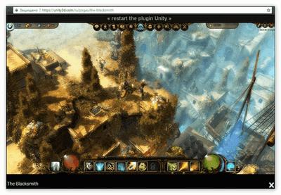 Браузерная игра на UnityPlayer