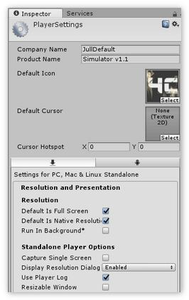 Дополнительные настройки проекта Unity3D