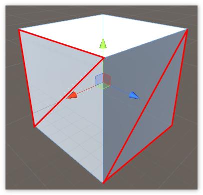 Куб состоит из треугольников