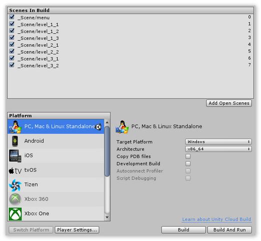 Мультиплатформенность Unity3D