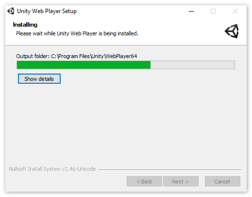 Установка UnityWebPlayer